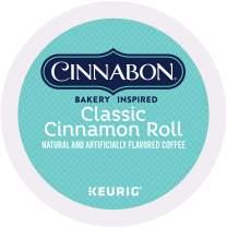 Cinnabon Classic Cinnamon Roll, Single-Serve Keurig K-Cup Pods, Flavored Coffee, 48 Count