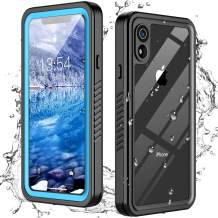 Oterkin for iPhone XR Case, iPhone XR Waterproof Case with Built-in Screen Protector Dustproof Shockproof 360 Full Body Protective Daily-Use IP68 Waterproof Case for iPhone XR (6.1inch) (Ocean Blue)