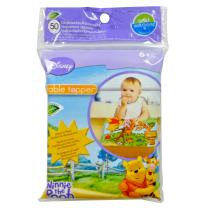 Winnie The Pooh Table Topper Disposable Stick-on Placements in Reusable Package, Gender Neutral Design