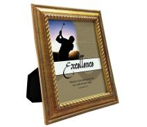 VERSERIES Perseverance Picture Frame | Traditional Fancy & Modern Style Canvas Photo Frame Gift and Art | for Display Desk, Home, Office, Tabletop, Room Decor (Rustic Gold Frame, Set of 1)