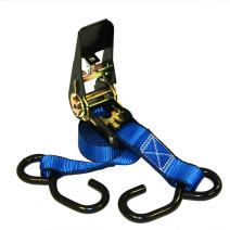 Everest Premium Ratchet Tie Down – 1 PK – 1 IN – 10 FT – 400 LBS Working Load – 1200 LBS Break Strength – Cambuckle Alternative – Cargo Straps Perfect for Moving Appliances, Lawn Equipment and Motorcycles