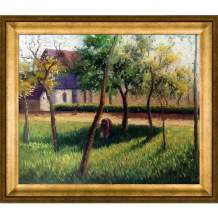 overstockArt Camille Pissarro An Enclosure in Eragny 20-Inch by 24-Inch Framed Oil on Canvas