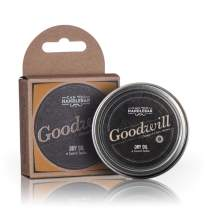Beard Balm Orange and Clove Scent | Goodwill Premium Beard Balm for Men | Dry Oil Beard Conditioner | 2 Oz Stainless Crushproof Steel Tin