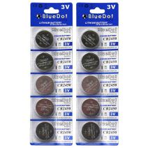 BlueDot Trading CR2450 Lithium Cell Battery, 10 Count