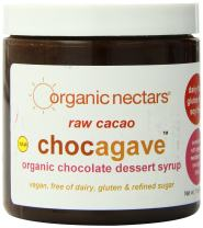 Organic Nectars Organic Raw Cacao Chocagave Organic Chocolate Dessert Syrup, 11-Ounce Jars (Pack of 3)