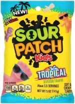 Sour Patch Kids Tropical Gummy Candy, 5 Oz Bag (Pack of 12)