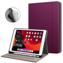 """Fintie Folio Case for New iPad 7th Generation 10.2 Inch 2019 with Built-in Pencil Holder - Multi-Angle Viewing Soft TPU Smart Stand Back Cover with Pocket, Auto Wake/Sleep for iPad 10.2"""", Purple"""