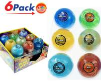 JA-RU Planet Putty Galaxy Solar System Stress Slime (Pack of 6 Planet Assorted) Metallic Colors Science Game Party Favors Toys for Girls & Boys. 5459-6p