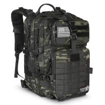LeisonTac 42L Tactical Backpack Military ISO Standard with Hydration Bladder Compartment