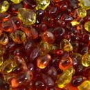 Fall Bouquet - Blended Fire Glass Dots for Indoor and Outdoor Fire Pits or Fireplaces | 10 Pounds | 3/8 Inch