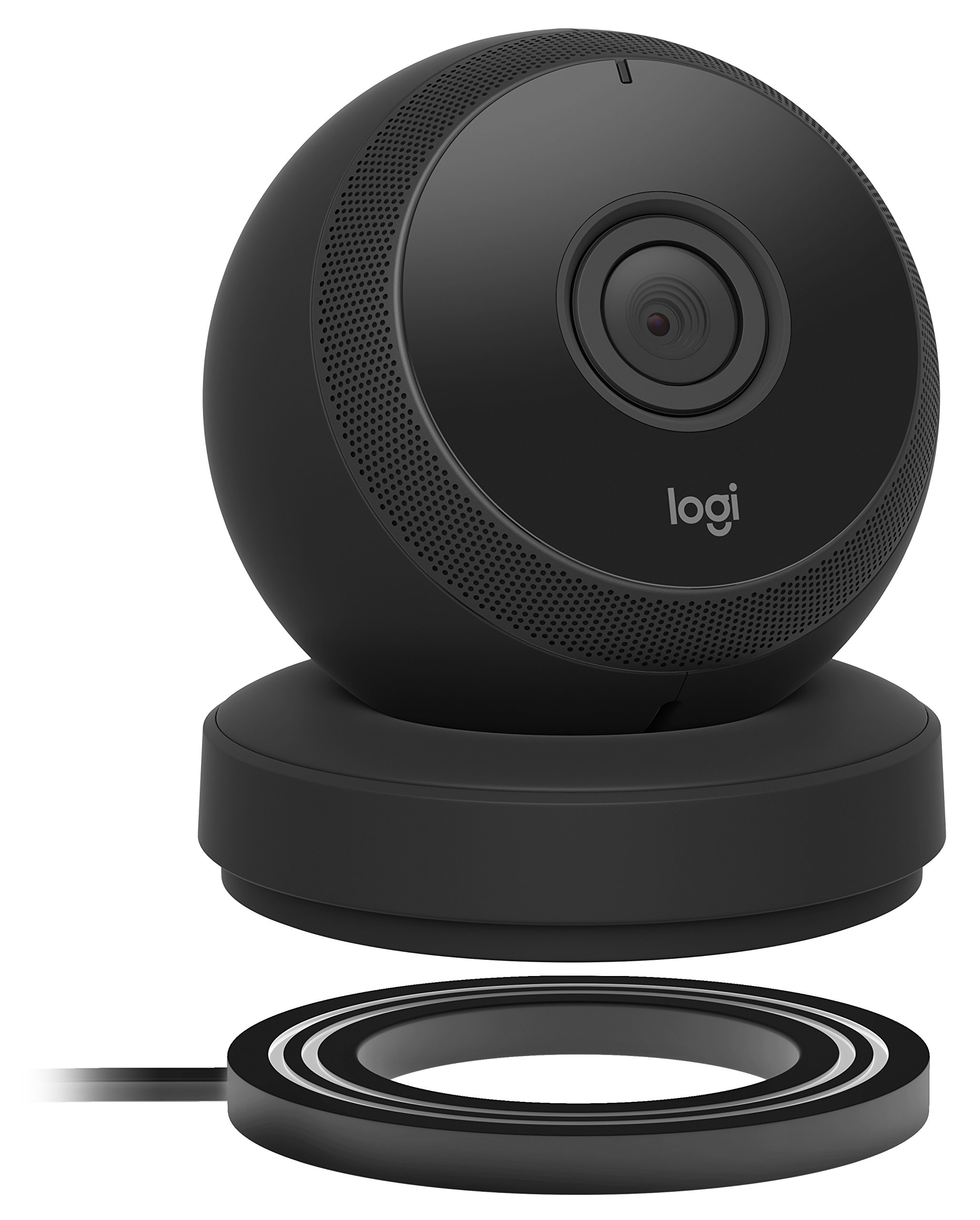 Logitech Circle Wireless HD Video Battery Powered Security Camera with 2-Way Talk, Works with Alexa (1 Pack, Black)