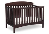 Delta Children Abby 4-in-1 Convertible Baby Crib, Dark Chocolate
