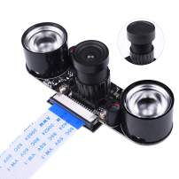 Kuman Raspberry Pi Camera Module 5MP 1080P Ov5647 Sensor HD Video Webcam Supports Night Vision SC15, Black