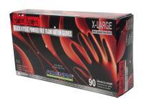 Adenna NGL228 Night Angel 4 mil Nitrile Powder Free Exam Gloves (Black, X-Large) Box of 90