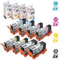 LD Compatible Ink Cartridge Replacement for Lexmark 100XL High Yield (2 Black, 2 Cyan, 2 Magenta, 2 Yellow, 8-Pack)