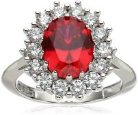 """Platinum-Plated Sterling Silver Celebrity """"Kate"""" Ring made with Swarovski Zirconia Accents"""
