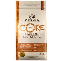 Wellness Core Natural Grain Free Dry Cat Food, Original Turkey & Chicken Recipe, 5-Pound Bag