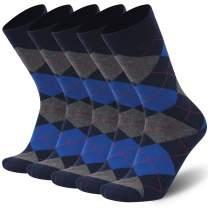 Merino Wool Dress Socks,Calbom Winter Thermal Lightweight Business Casual Crew Socks 3/5/6 PACK