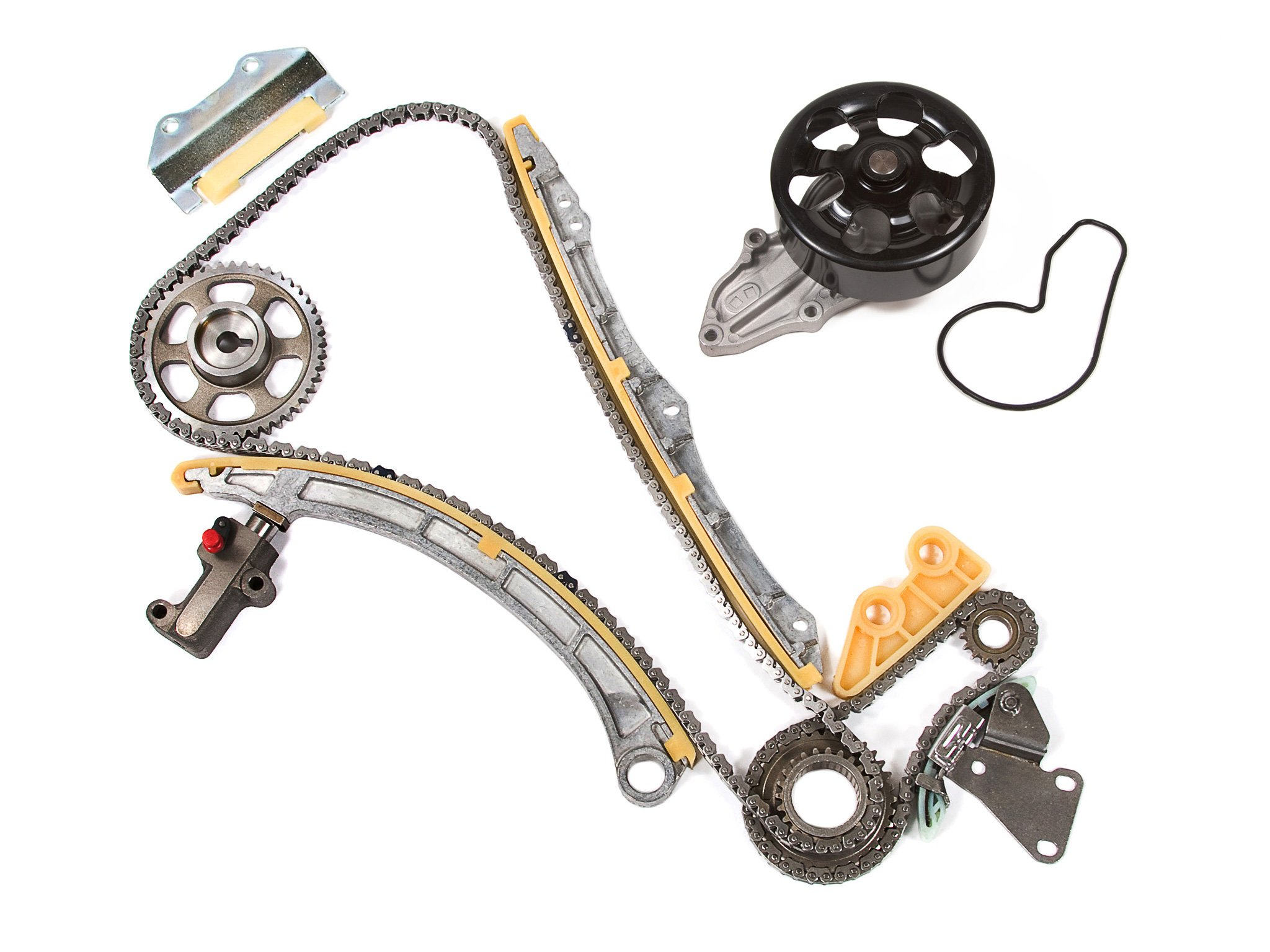 Evergreen TK4033WPT Fits Acura RSX Honda Civic 2.0L K20A3 Timing Chain Kit Water Pump (with Gears)