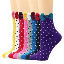 LIVEBEAR Multi-Pack Womens Cute Patterns, Novelty, Casual Cotton Crew Socks Made In Korea