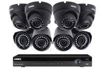 Lorex Weatherproof Indoor/Outdoor 2K Super HD Security System, 4 Eyeball Dome & 4 Bullet Cameras W/Long Range Night Vision- Includes 8 Channel 4K NVR w/ 2 TB Storage Hard Drive