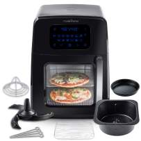 Modernhome Air Fryers (8Qt Premium Digital Air Fryer Oven with Auto-Stirring, Rotating Rotisserie, Full Accessory Set with Skewers, Pans, Multiple Shelves and Recipe Cookbook)