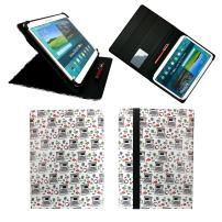 Emartbuy Universal 10-11 Inch Computers Multi Angle Folio Wallet Case Cover with Card Slots Black Elastic Strap and Stylus Pen Compatible with Selected Devices Listed Below