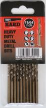 TTP HARD drills Bits 11/64-Inch, 10 X Imperial Drill Bits Cobalt For Drilling Harder Metals Stainless Chrome Aluminum Cast Iron