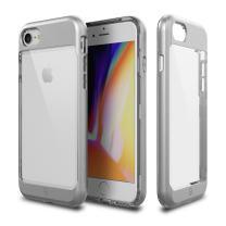 iPhone 8 Case, Patchworks [Contour Series] Hybrid Smudge-Free Clear Inner TPU Hard Matte Finish PC Frame Cover Military Grade Drop Tested Case [Wireless Charging] for iPhone 8 iPhone 7 - Silver