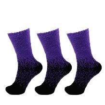 Womens Fuzzy Colorful Socks - 3 Pair Packs