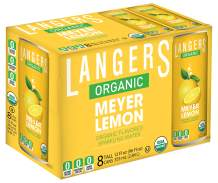 Langers Organic Flavored Sparkling Water, Meyer Lemon, 12 Ounce (Pack of 8)