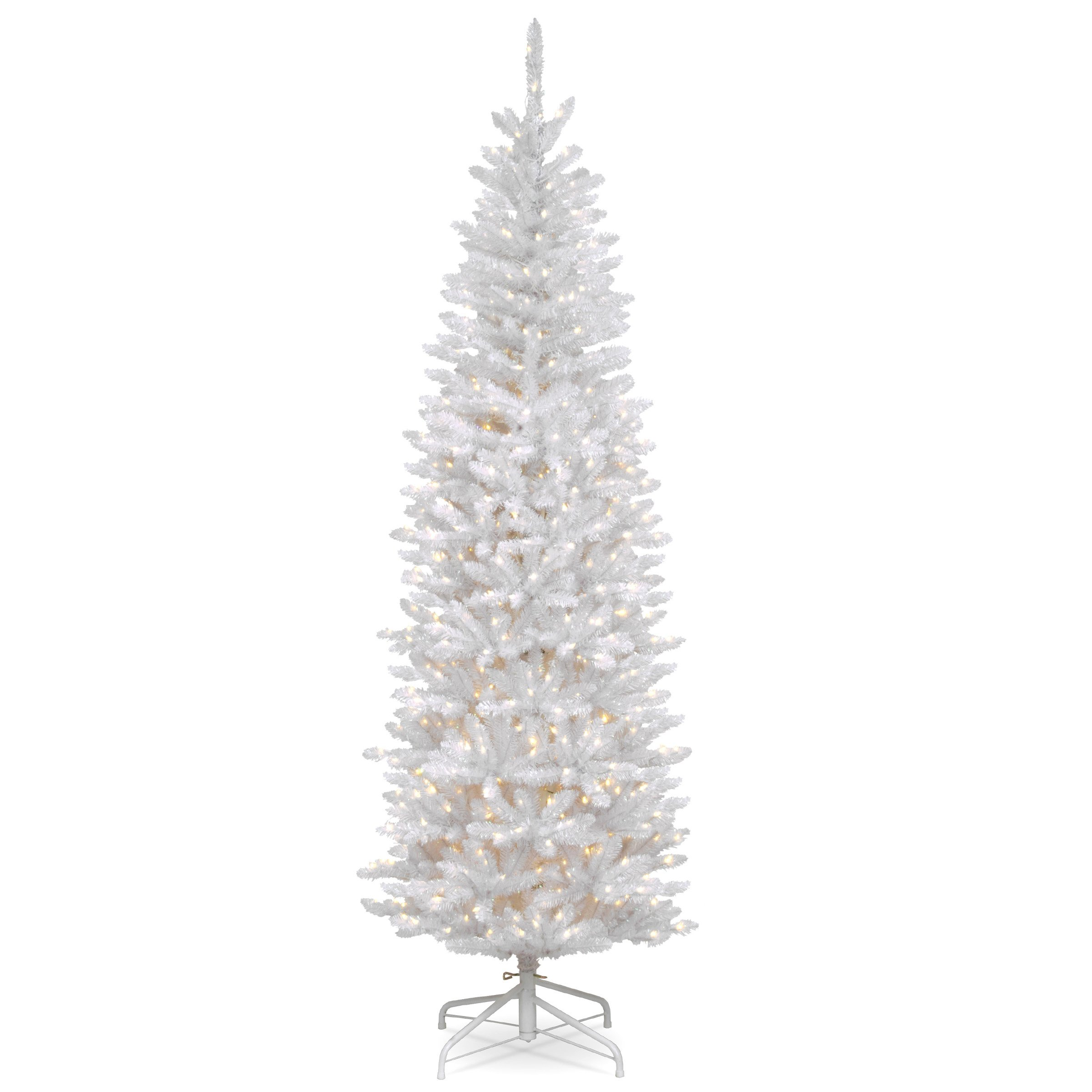 National Tree 7.5 Foot Kingswood Fir White Pencil Tree