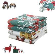 VNICGFOMGT Fall Kitchen Towels 28x18 Inches Set of 4, Cotton Tea Towels for Kitchen Soft Absorbent Holiday Dishcloth, Cats & Dogs 1