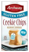 Archway Cookies, Gluten Free Cookie Chips, Sugar Cookie, 6 Ounce Box