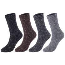 Lovely Annie Women's 4 Pairs Pack Soft Cotton Crew Socks Size 6-9 HR1614