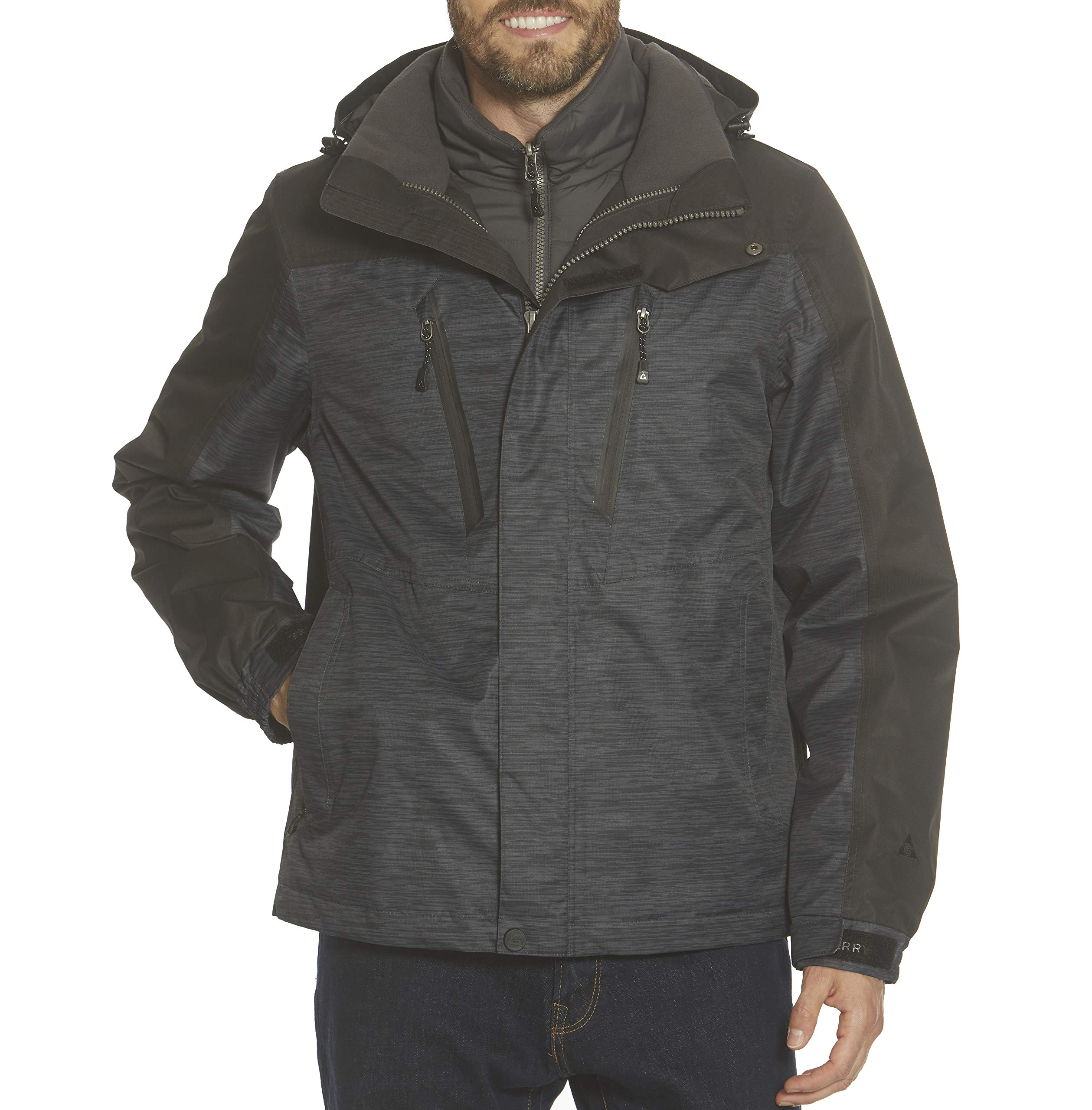 Gerry Mens Jacket, Crusade System Water Resistant 3 in 1 Coats for Men, High-Performance Insulation Mens Winter Coat