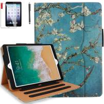 iPad Air 3 Case, iPad Pro 10.5 Case with Pencil Holder, Bonus Screen Protector and Stylus - Multi-Angle Stand, Hand Strap, Auto Sleep/Wake for iPad Air 3rd Generation, iPad Pro 10.5(Pear Flower)