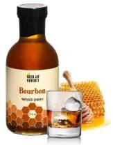 Green Jay Gourmet Bourbon Honey – Uses Clover Honey, Reduced Aged Kentucky Bourbon – Bourbon Infused Honey – Handcrafted, Small Batch Natural Raw Honey – Gourmet Honey – Spicy Honey – 17.6 ounces