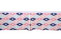 Bacati - Aztec Crib/Toddler Bed Skirt (Emma Kilim Coral/Mint/Navy)