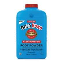 Gold Bond Medicated Talc-Free Foot Powder 10 oz, Maximum Strength Odor Control & Itch Relief