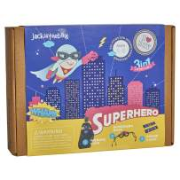 jackinthebox Superhero DIY Dress up Art and Craft Kit   Make a Cape, Mask and Cuffs   Best Gift for Boys Ages 5 6 7 8 Years   3 Craft Projects in 1 Box