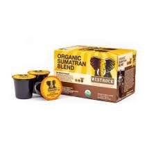 Westrock Coffee Company, Organic Certified Sumatran Blend, Single Serve Coffee Cup, Dark Roast (12)