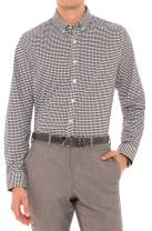 Dry Fit Button Down Shirts for Men - Performance Slim Fit Casual Shirts - Plaid