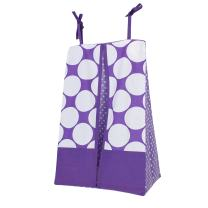 Bacati - Mix N Match Dots Diaper Stacker (Purple)