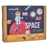 Space Themed Science Art Craft Toy for Boys and Girls | 6 Activities-in-1 Kit | Best Gift for kids Aged 6,7,8,9,10 years old | Includes beautiful DIY Solar System mobile kit, Rocket, and Boardgame
