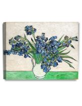 DECORARTS - Vase with Irises1889, Vincent Van Gogh Art Reproduction. Giclee Canvas Prints Wall Art for Home Decor 20x16