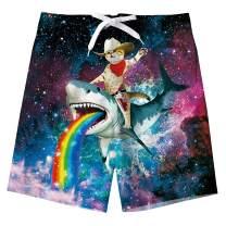 RAISEVERN Boys Swim Trunks Funny Cool Board Shorts Little Boys Kids Swimsuits