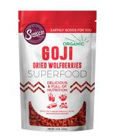 Suncore Foods - Organic Goji Berries, 8oz bag, Gluten Free and Non-GMO, Sulfite-Free, Superfood