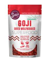 Suncore Foods - Organic Goji Berries, 8oz bag, Gluten Free and Non-GMO, Sulfite-Free, Superfood