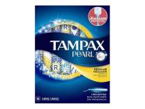 Tampax Pearl Plastic Unscented Tampons, Regular Absorbency, 18 Count, Blue